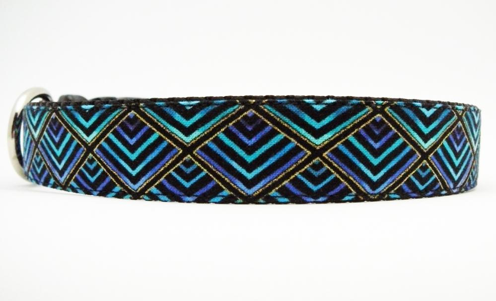 """Dog Collar - """"Shake Your Tail Feather"""" So Cute in Shades of Peacock Plumage"""
