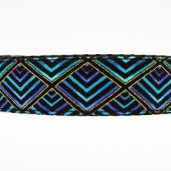 "Dog Collar - ""Shake Your Tail Feather"" So Cute in Shades of Peacock Plumage"