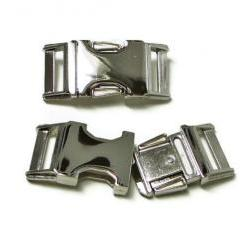 """Nickel Finish Metal Buckle Upgrade for 3/4"""" or 1"""" Dog Collar"""