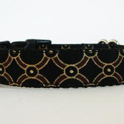 "Dog Collar - ""Pirate's Booty"" for Your Little Matey with Metallic Gold Accents"